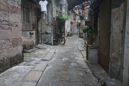 Back Lane, Alleyways, South China, Guangzhou, Old Times