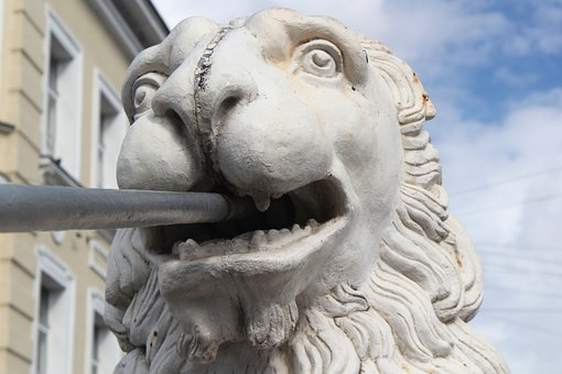 The Lion, Statue, Cast Iron, Bridge, Support, Head
