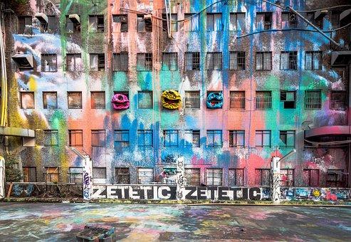 Street Art, Abandoned, Graffiti, Wall, Creativity