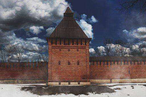 Smolensk, Wall, Fortress, Tower