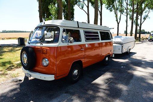 Vw Bus, 70 Years, Camper, Bulli, Folding Caravan