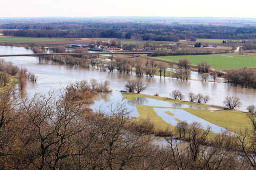River, Danube, High Water, Flood, Flooding, Rain, Water