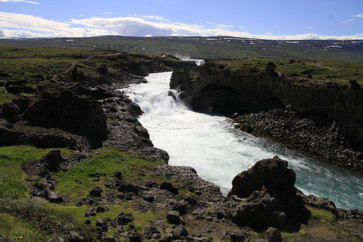 River, Waterfall, Water, Nature, Landscape, Flowing