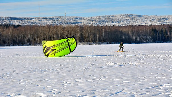 Snow-kiting, Winter, Sport, Skis, Kite-surfing, Snow