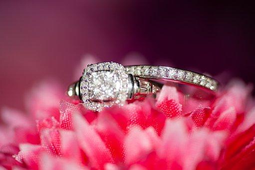 Bridal, Flowers, Bokeh, Rings, Arrangement, Elegant