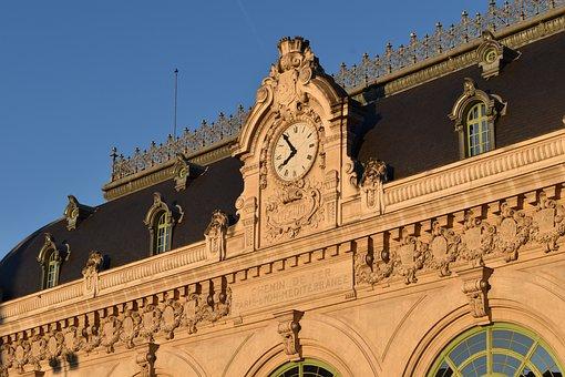 Lyon, Train Station, Brotteaux, Old Station, Sunset