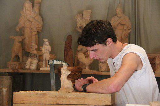 Carver, Man, Schnitzer, Carve, Craft, Hands, Human
