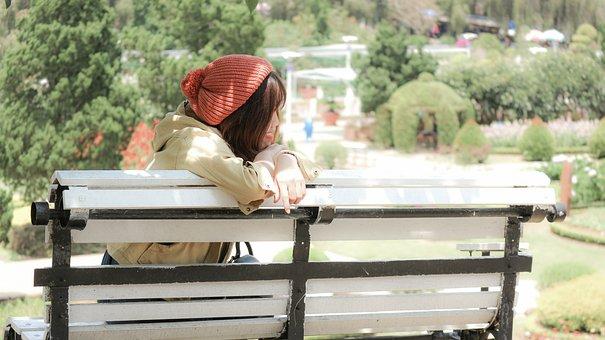 Girl, Hat, Look, Tree, Sad, Daughter, People, The, Nice
