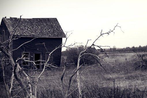 Creepy, Haunted, Evil, Dilapidated, Abandoned, Gloomy