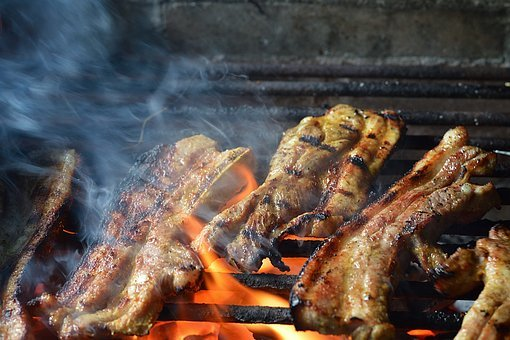 Meat, Roast, Food, Barbecue, Grill, Lunch, Dinner, Cook