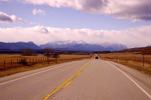 Path, Prairie, Mountains, Landscape, Field, Journey