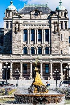 Fountain, Boy, Legislative Building, Victoria, Bc