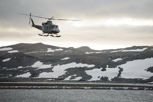 Antarctica, Helicopter, Logistics, Rescue, Landscape
