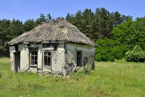 The Ruins Of The, Old House, The Abandoned, Old