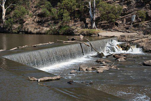 Dights Falls, Melbourne, Waterfall, Water, River