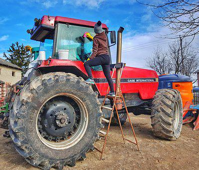 Tractor, Female Farmer, Rolnik, Case International