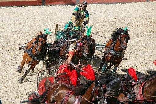 Roman, Chariot Race, Rome, Colloseum, Gladiator