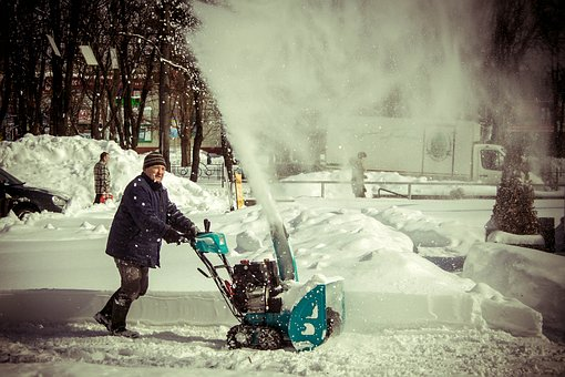 Snow, Cleaning, Man, Snow Blower, Winter, Cold