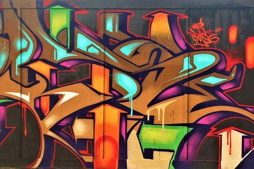 Graffiti, Mural, Street Art, Wall Art, Background