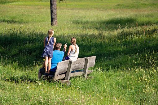 More, Nature, Family, Summer, Hiking, Bench, Rest
