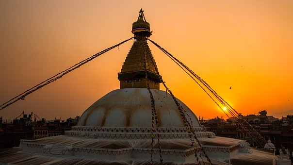 Baudha, Stupa, Sunset, Temple, Ancient, Asia, Heritage