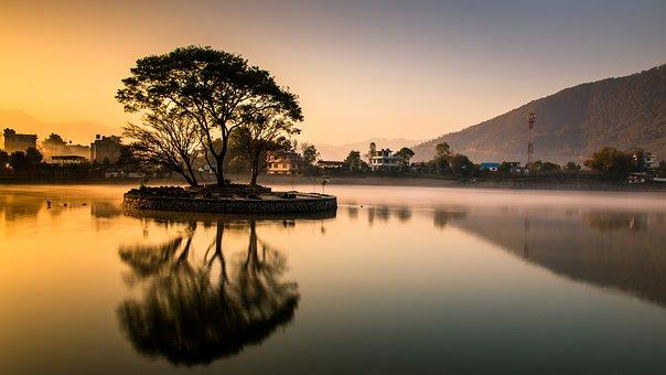 Reflection, Lake, Water, Nature, Landscape, Sunrise