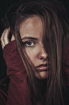 Girl, Portrait, Woman, Facial, Hair, Eyes, Attractive