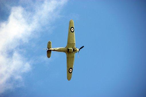 Hawker Hurricane, Plane, Ww2, Aircraft, Airplane, War