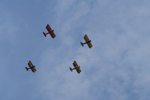 Airplane, Sky, Clouds, Aviation, Flight, Propeller, Jet