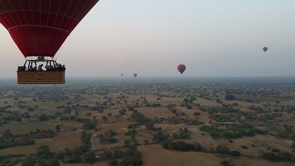 Ballooning, Human, Sky, Flying, Travel, Basket