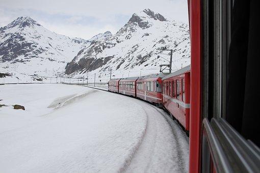 Bernina, Railway, Bernina Railway, Narrow Gauge, Rhb