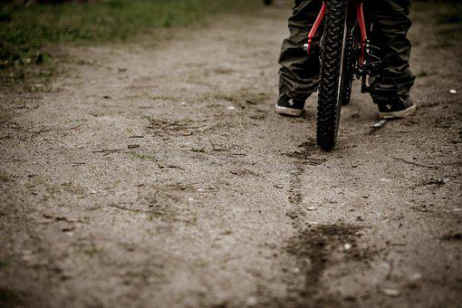 Bike, Brake, Skid Mark, Mountain Bike, Wheel, Cycling