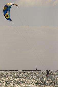 Kite Surfing, Water, Water Sports, Summer, Kite, Board