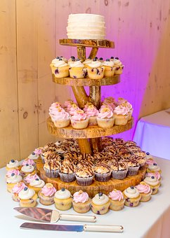 Wedding, Cake, Cupcake, Party, Dessert, Celebration