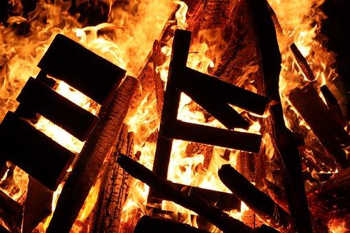 Fire, St -martin, Flame, Wood, Carbon, Burn, Heat