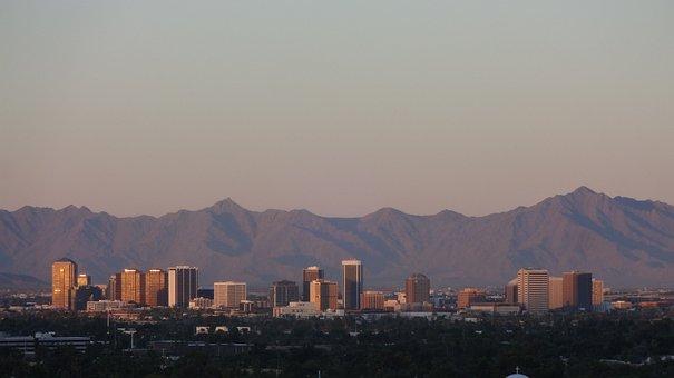 Phoenix, Cityscape, Desert, City, Metro, Metropolis