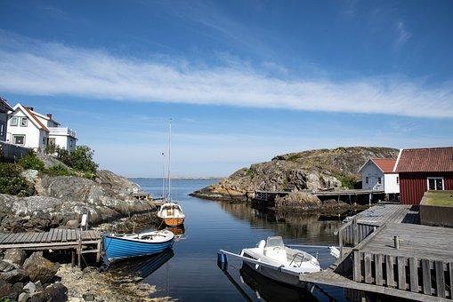 Sea, Coastal, Boats, Piers, Bridge, Port