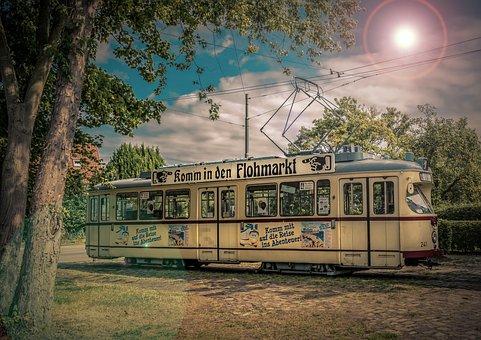 Tram, Railway, Train, Dare, Traffic, City, Transport