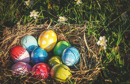 Easter, Easter Eggs, Egg, Colorful, Colored, Color