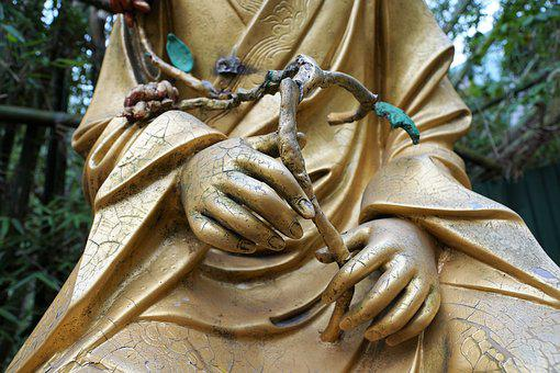 Gold, Buddha, Statue, Meditation, Buddhism, Thailand