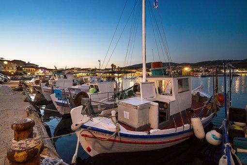 Greece, Sea, Mediterranean, Peloponneses, Fishing Boats