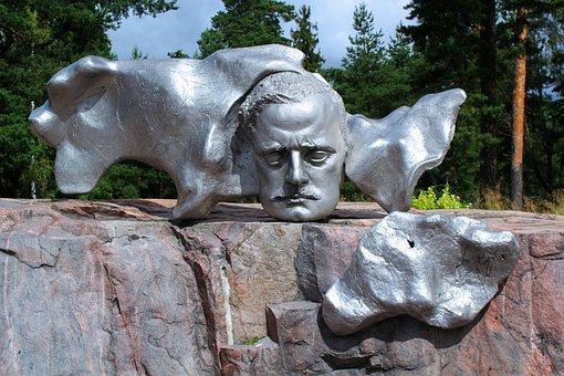 Statue, Monument, Metal, Steel, Helsinki, Finland