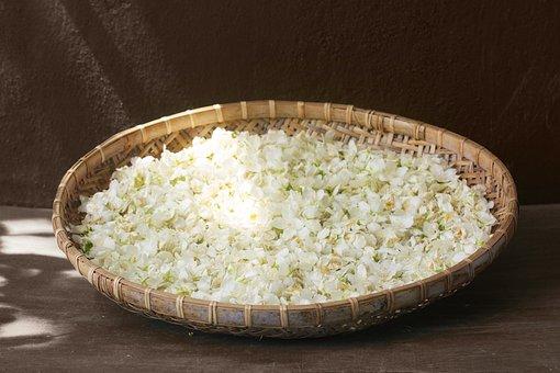 Jasmine, Drying, Harvest, Petals, Flowers, Flower Tea