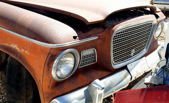 Antique, Car, Vehicle, Automotive, Junkyard, Junked