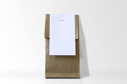 Kraft, Bag, Paper, Blank, Container, Brown, Design