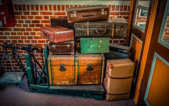 Luggage, Luggage Scale, Travel, Go Away, Old, Holidays