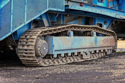 Chain, Machine, Tracked Vehicle, Crusher, Technology