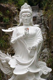 Buddha, Statue, White, Meditation, Zen, Buddhism, Asia