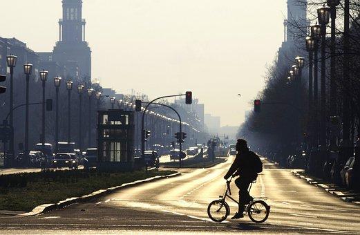 Berlin, Avenue, Morgenstimmung, City, Friedrichshain