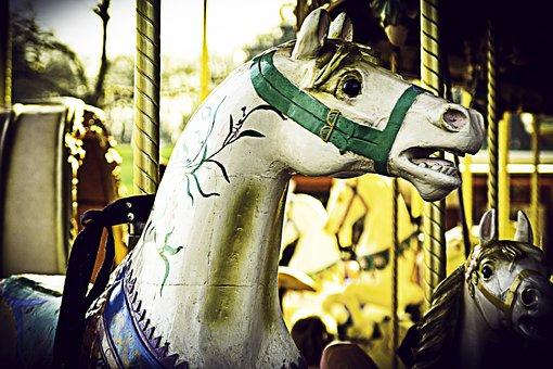 Horse, Carousel, Fun, Manege, Nostalgic, Vintage